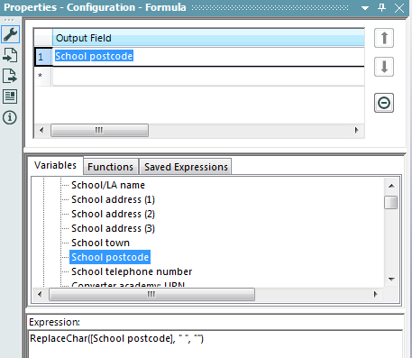 Alteryx formula tool to replace blanks in a postcode