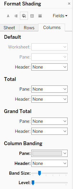 Format Shading in Tableau