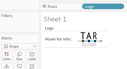 Use a share mark type to add the TAR Solutions logo to your dashboard