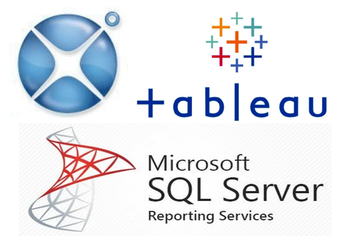 logos of Xcelsius Tableau and SSRS