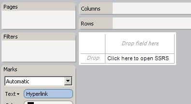 Drop hyperlink calculated field on text shelf