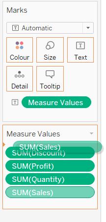 rearrange Measure Values in Tableau