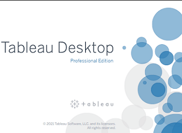 Tableau desktop splash screen